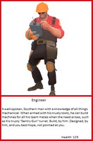 TF2 Trading Card: Engineer by UltimaWeapon13