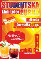 Juice Vodka Party club Lider by kraljevo