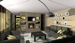 Architect House - Lounge 2 by Mildy