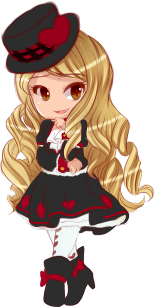 Vampire Queen Chibi Sketch by Egoistic-Cosmos