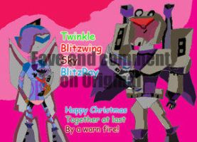 Together For Xmas Coloured by by fembotsunite