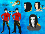 Reference of Archer human by Deetroitiz