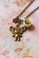 Tea time with Teddy Necklace by MiniSinLove