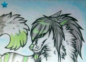ACEO trade Sachmet-Chan by DarkBroken
