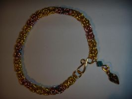 fluttershy inspired bracelet by TianaTinuviel
