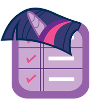 MLP:FiM Twilight Mane iPhone Reminder Icon 3 by craftybrony