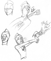 Johnny Virtue Sketches by invaderjes