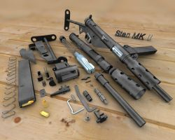 Sten Mk II disassembled by Vikingheretic