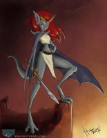 Demona, with the tail I forgot by Hasaniwalker