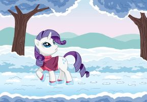 Rarity, walking on a road by dannylim86