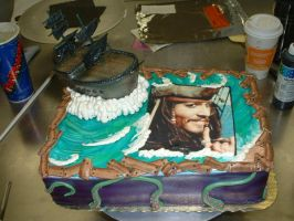 Pirate Ship Cake by Kahlan4