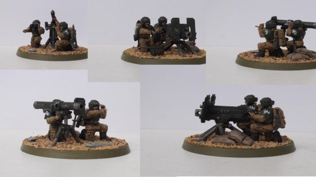 Cadian Heavy Weapons Team by Rodesu