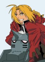 ED and Alphonse Elric in Color by BrandiHumphries