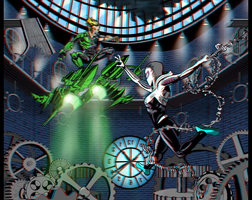 Gwen Stacy's Revenge Anaglyph 3D version by eMokid64