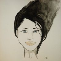 Black haired girl by gioNini