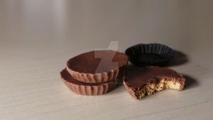 Reese's peanut butter cups - polymer clay by sugarcharmshop
