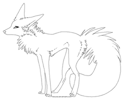 free dog lineart_pixel by nequita