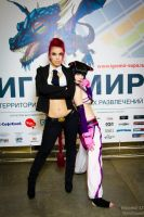 C.Viper and Juri by Freia-Raven