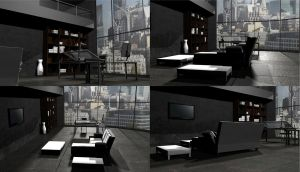 contemporary Living Room_t by dede23