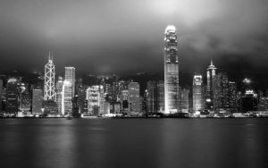 Hong Kong skyline by lazykun