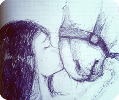 .I and my second horse. by Aquilions