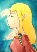 ACEO 84 - Skyward Sword Zelda by Clopina