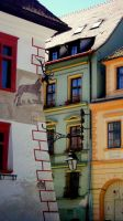 A piece of Sighisoara by stupidcartoons
