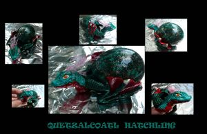 Quetxalcoatl Hatchling by Eviecats
