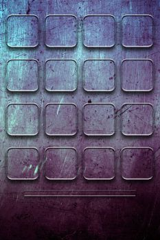 Grunge'd Purple Grid Iphone Wallpaper by bastian1967