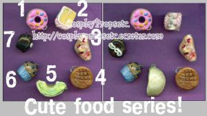 Cute food - Mini Desert Charms by CosplayPropsEtc