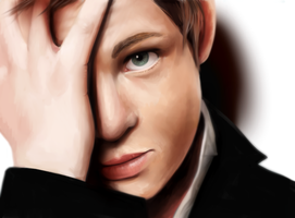 logan lerman by rein-arius