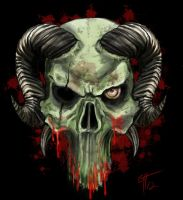 Horned Skull by TheMacRat