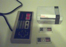 Mini NES Papercraft by ganon-destroyer