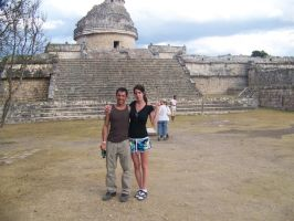 me and eric at Chichen Itza by bipolargenius