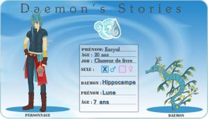 Daemon Story ~ Fiche personnage ~ Enryul by Faelivrin-chan
