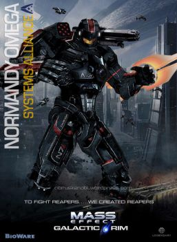 MassEffect Jaeger Mashup Alliance Normandy Omega by rs2studios