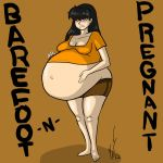 Barefoot and pregnant by Dragon-Storm