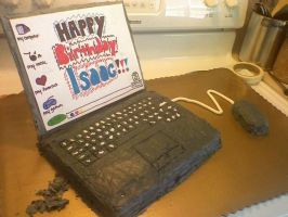 laptop cake by ICKYintimidation