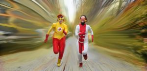 Flashes- Impuse and Kid Flash by Tenraii