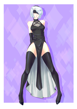 2b (alternative outfit) by CatOfRAGE