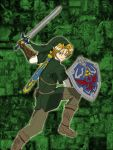 Fave Anime/Manga men #1: Link collage by GalacticKitten
