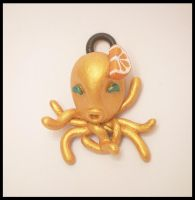 Orange Citrus Octopendant by KimsButterflyGarden