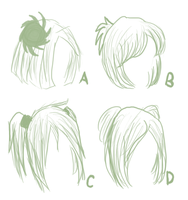 :Hair Sketches: by Furugaki