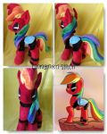 My little pony Rainbowdash as DEADPOOL Plushie by CINNAMON-STITCH