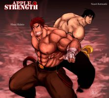 APPLE STRENGTH fighters by BloodyAki