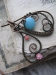 Butterfly Copper Wire Brooch by Lirimaer86