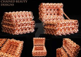 Copper Chainmaille Treasure Chest by ChainedBeauty