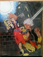sora and teen asura by DeoxysPrime400