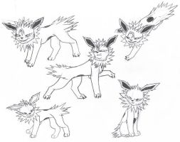Jolteon named Grimmjow by Tetsumon