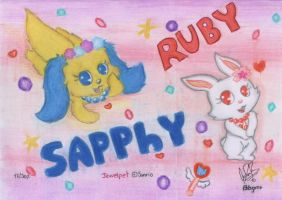 Sapphy and Ruby by davidcool1989